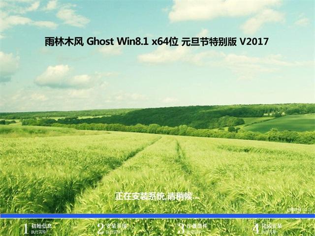 雨木风林GHOST Win8.1 X64 元旦节特别版V2017(完美激活)