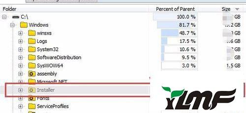 win7系统查看win7系统 C盘中Installer目录大小的解决方法